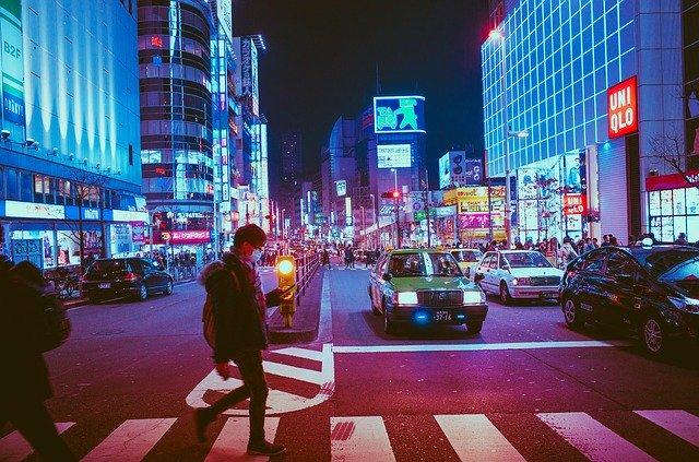 Japan streets at night